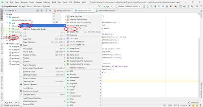 panduan membuat file html di android studio