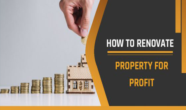 How To Renovate Property For Profit #infographic
