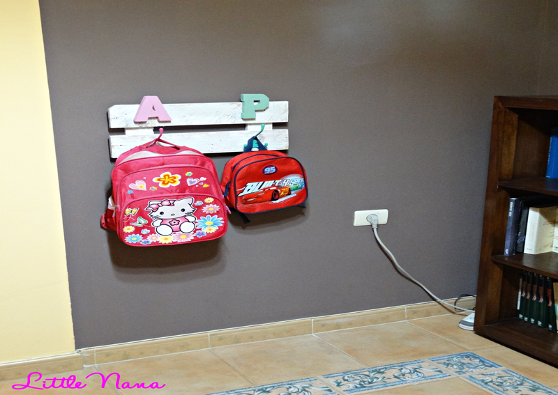 Diy perchero mochilas