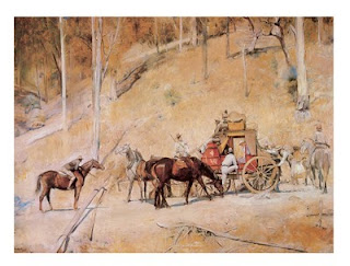 Bailed up - Tom Roberts painting