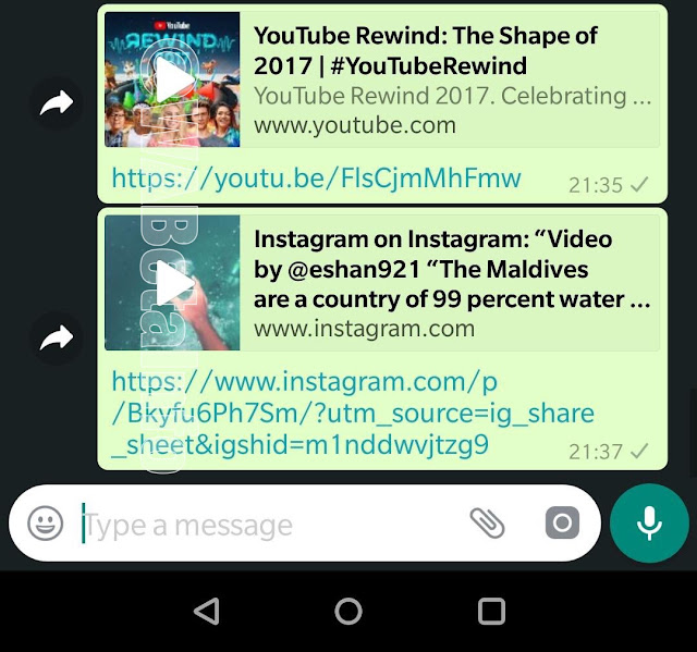 YouTube videos can now play directly inside your WhatsApp chats so you no longer have to switch between apps