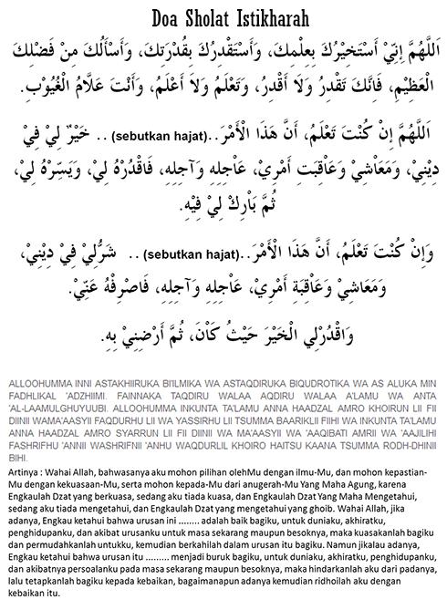 Doa Sholat Istikharah : Niat, Waktu, Tata Cara dan Doanya Lengkap