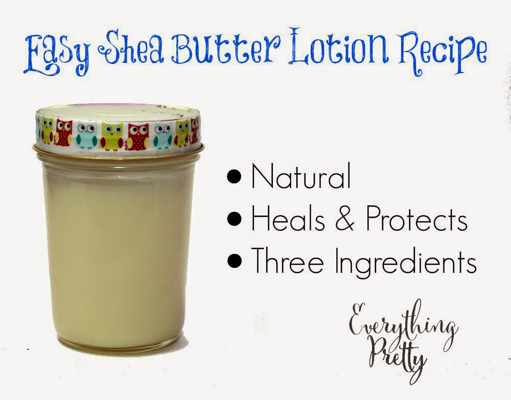 Shea butter lotion recipe.