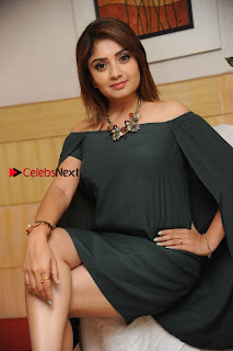 Kannada Actress Karunya Ram Stills in Strapless Green Short Dress at Eradu Kanasu Movie Press Meet  0007.jpg