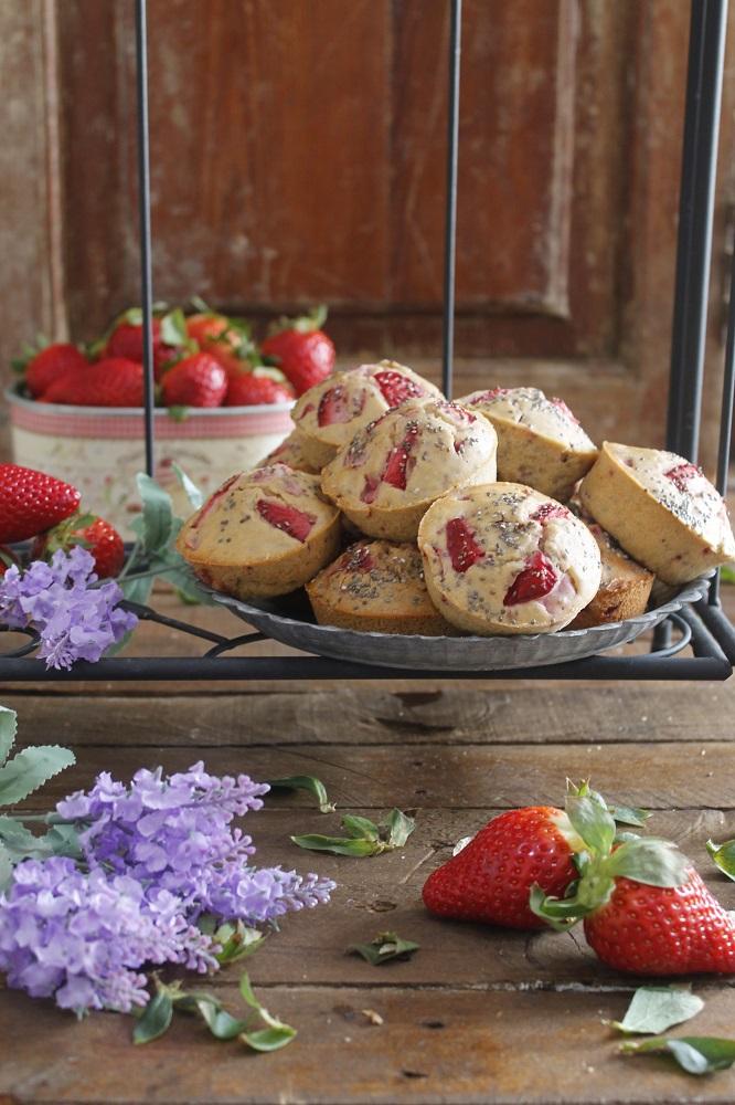 Muffins De Fresas Y Chía