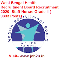 West Bengal Health Recruitment Board Recruitment 2020, Staff Nurse