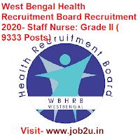 West Bengal Health Recruitment Board Recruitment 2020, Staff Nurse