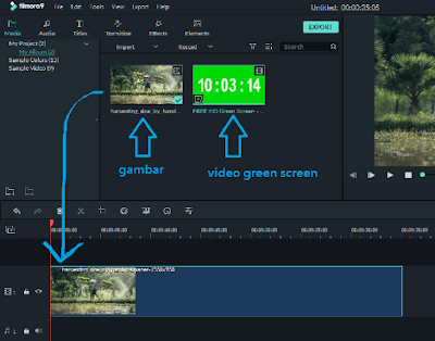 edit video green screen di filmora