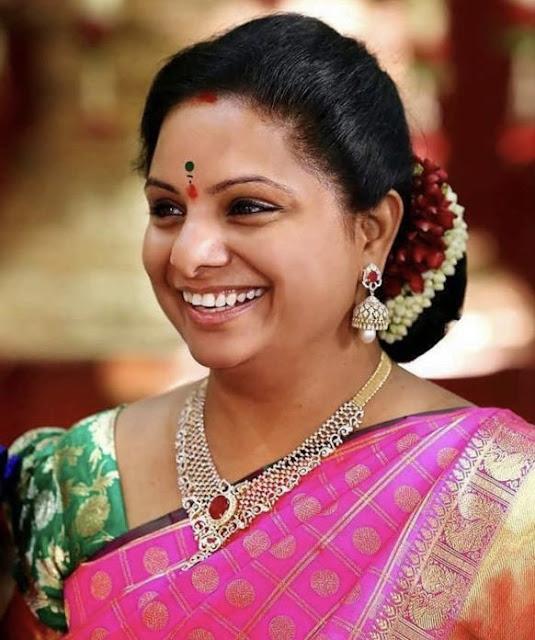 Kavitha Kalvakuntla in Diamond Necklace
