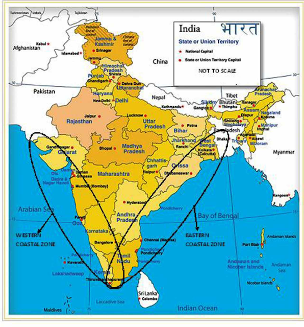 List of Coastal Cities and States in India