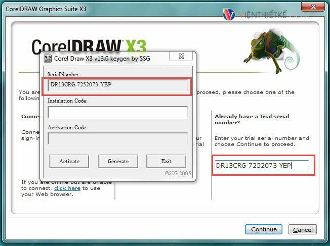 corel draw x3 v13.0 keygen by ssg installation code
