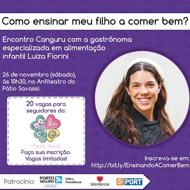 Luiza Fiorini - Alimentação para crianças - Canguru BH