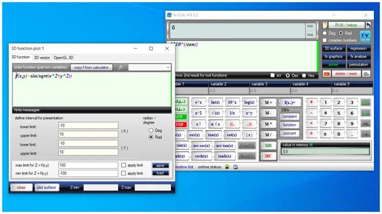 fx-Calc  :   Επιστημονικός Calculator  για τα Windows