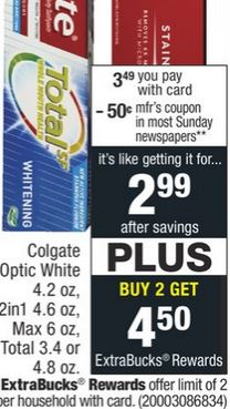 FREE Colgate Total Toothpaste at CVS 7/19-7/25