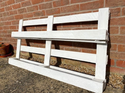 White painted pallet for planting