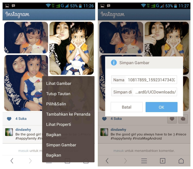 Cara Menyimpan Foto Dari Instagram di Hp Android