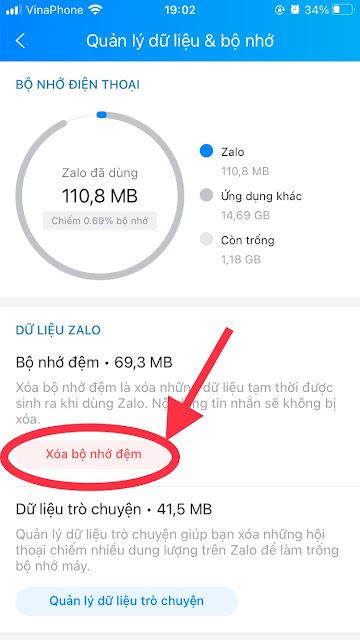 Cách giảm dung lượng Zalo trên điện thoại