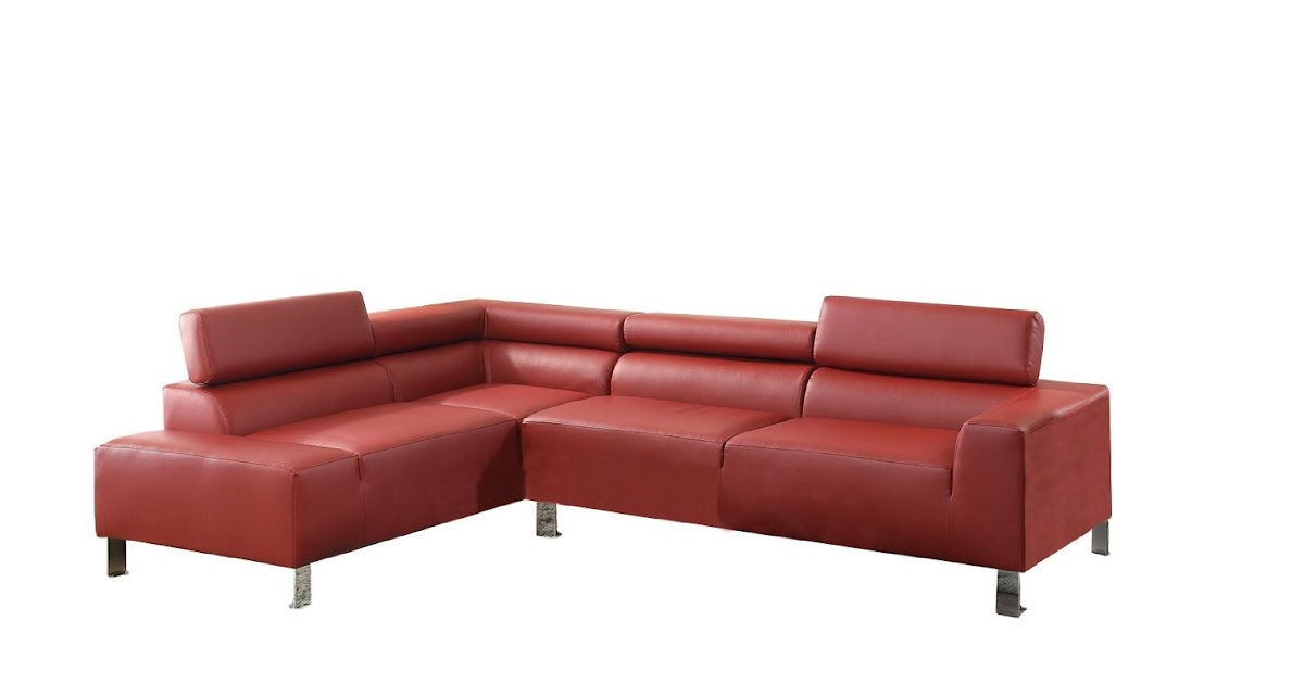 Online Sofa For Sale: Red Leather Sectional Sofa