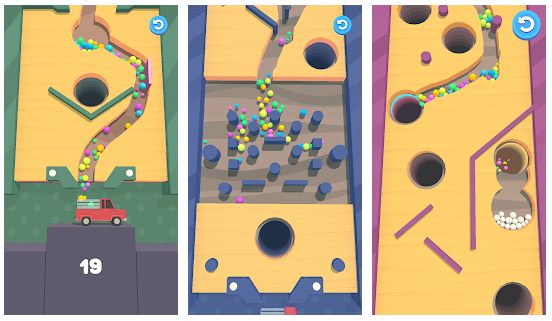 Sand Balls Game Features