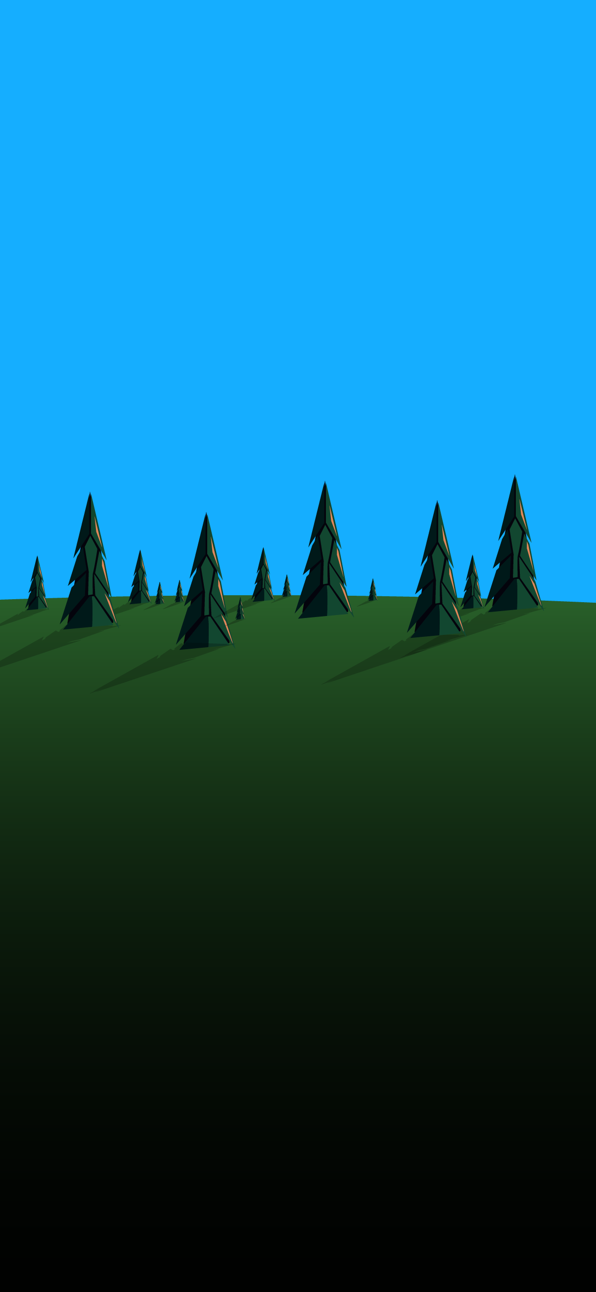 minimalist forest day wallpaper 4k