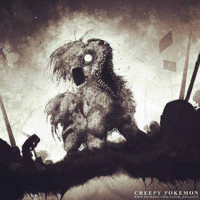 creepy-Pokemon-ilustraciones-terroríficas-David-Szilagyi