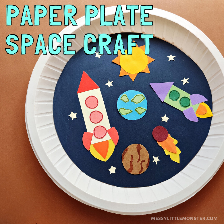 paper plate space craft for kids