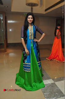 Actress Model Shamili Sounderajan Pos in Desginer Long Dress at Khwaaish Designer Exhibition Curtain Raiser  0059.JPG