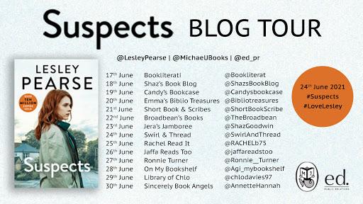 Suspects Blog Tour