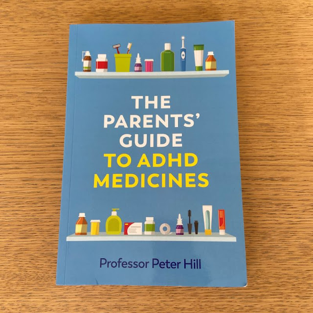 Blue front cover of the book The Parent's Guide to ADHD medicines