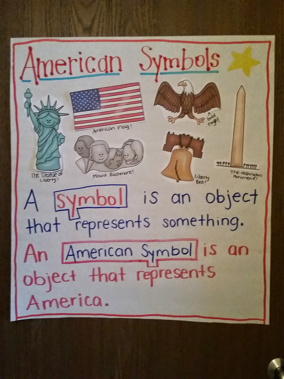 Second Grade Nest American Symbols