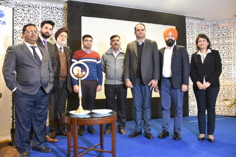 Tata Power Solar official with the guests
