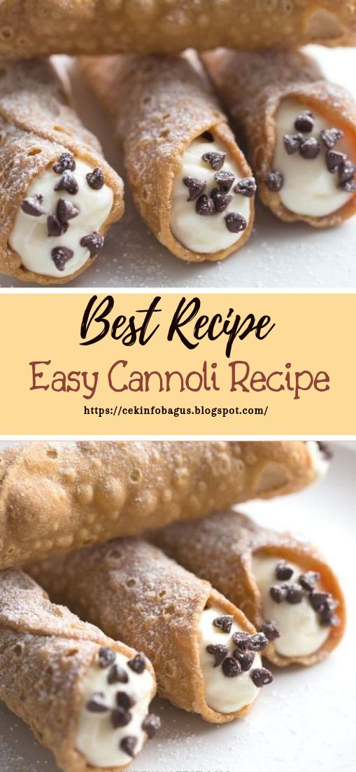 Easy Cannoli Recipe #healthyfood #dietketo #breakfast #food