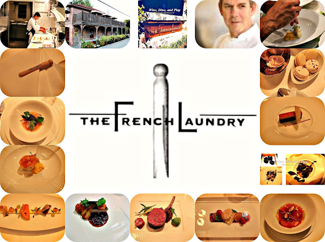 A collection of foods from The French Laundry in Napa, California