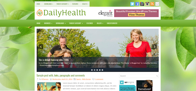 free responsive health blogger templates