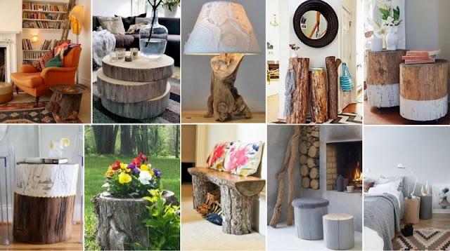 60+ Ιδέες για Kατασκευές από Κορμούς δέντρων