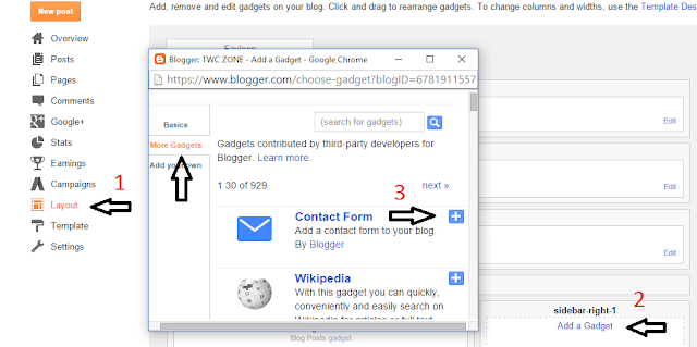 Add Blogger Contact Form In Blogger
