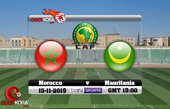 مشاهدة مباراة المغرب وموريتانيا اليوم 15-11-2019 تصفيات كأس أمم أفريقيا