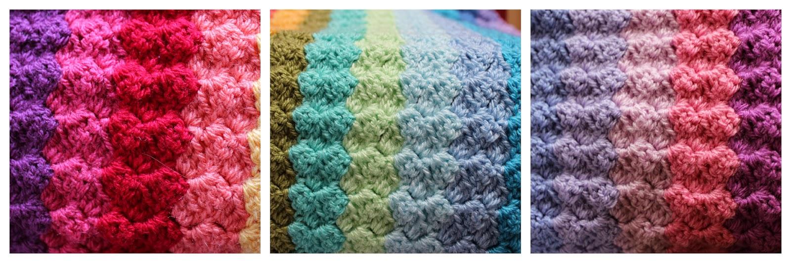 Crochet between worlds: Ta-dah! Corner to Corner Rainbow Throw!