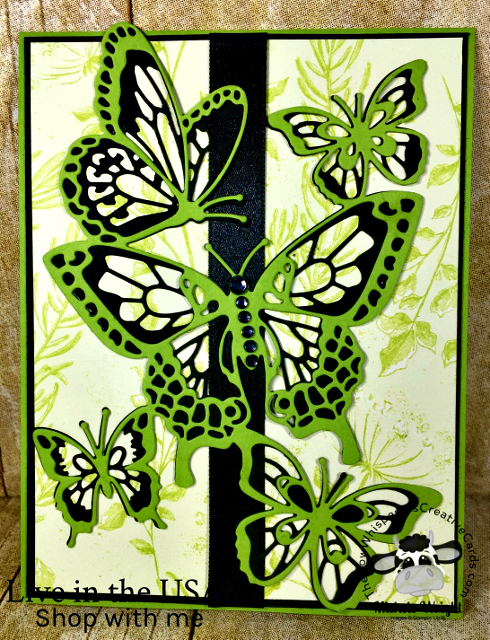 Card, Butterfly Beauty Thinlits, Buffalo Check, Stampin'Up!