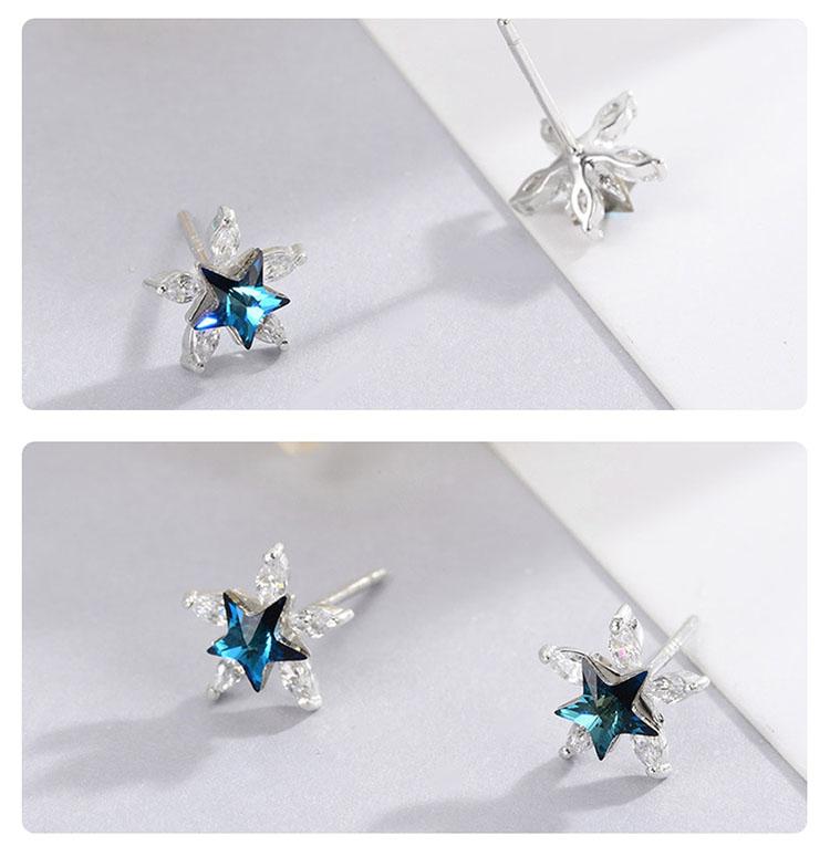夢幻之星 925純銀鋯石耳環