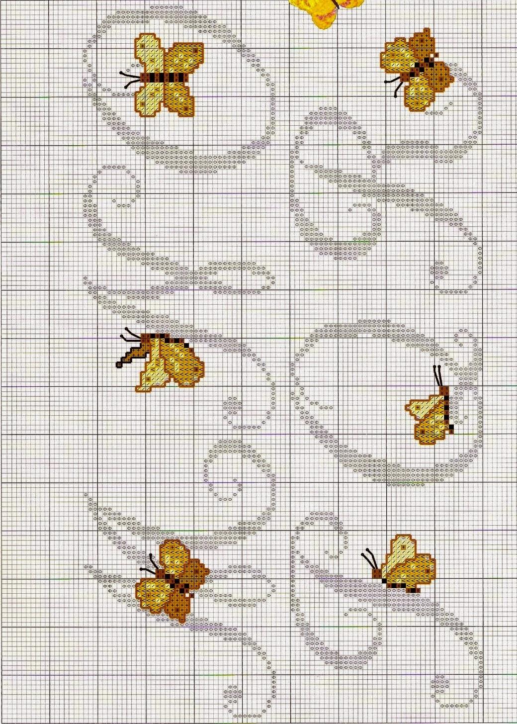 Ricami e schemi a punto croce gratuiti lettere alfabeto for Farfalle punto croce schemi