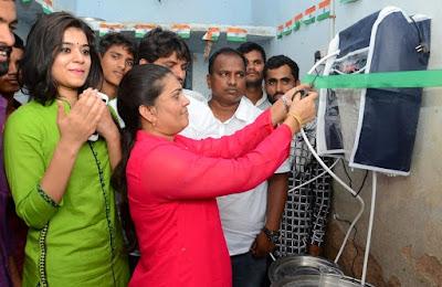 Yamini-bhaskar-donated-RO-on-Birthday