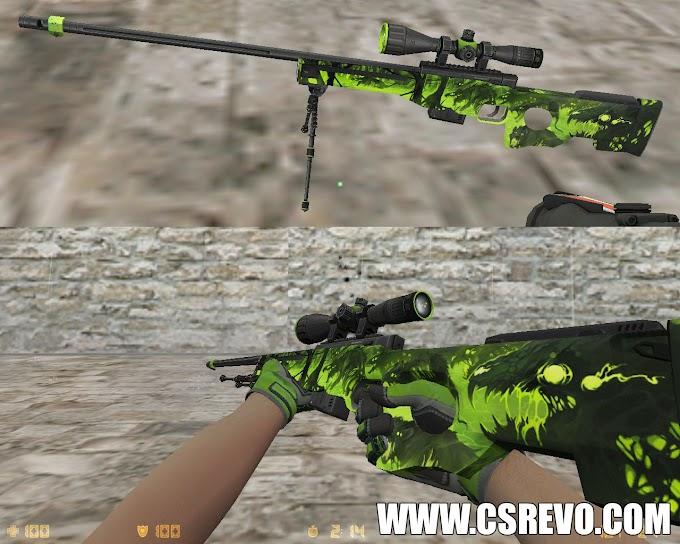 Skin AWP - Containment Breach  Spesnaz Emerald web (CS:GO) - HD para CS 1.6