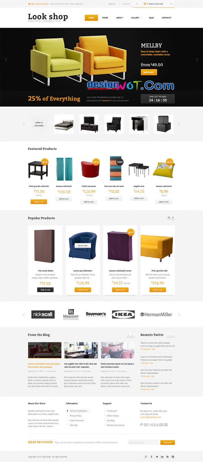 Lookshop - Furniture WordPress eCommerce Theme