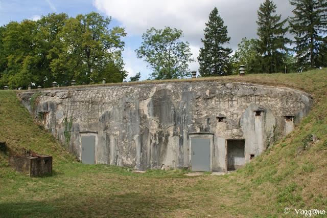 Vista esterna del forte di Mutzig