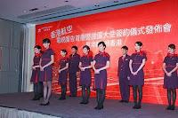 Pramugari Kung-fu Hong Kong Airlines