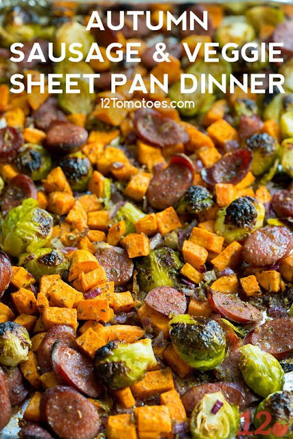 Autumn Sausage and Veggie Sheet Pan Dinner