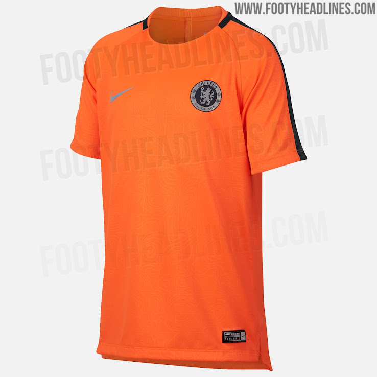 f08543b5a1e Nike Chelsea 18-19 European Cup Training + Pre-Match Shirts Leaked ...