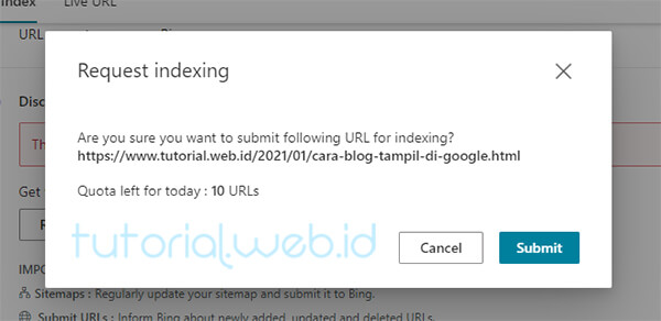 Cara Submit Artikel Ke Bing 3 Pilih Submit