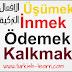 الافعال في اللغة التركية مترجمة للعربية